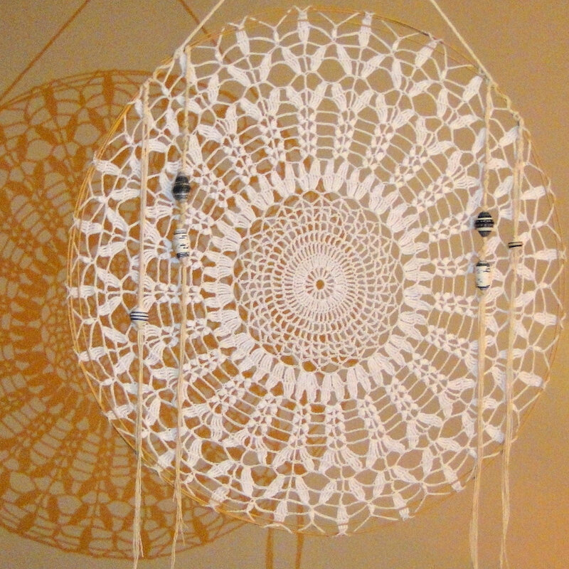 suspension crochet perles papier