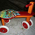 jeu en bois : quadricycle 1er âge