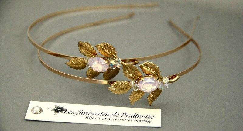 bijoux-mariage-serre-tetes-mariees-temoins-feuilles-et-cabochons-rose-opal