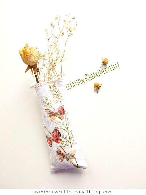 Vase murale aux fleurs séchées1 - création ©marimerveille