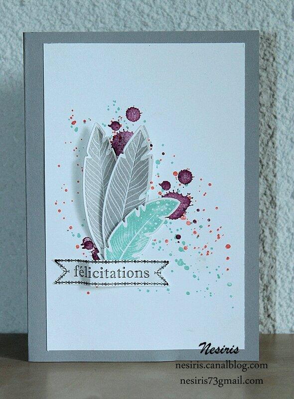 Carte félicitations2 Nesiris Katia Démonstratrice Stampin'up