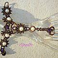 Bracelet de main - twin beads offertes par Preciosa