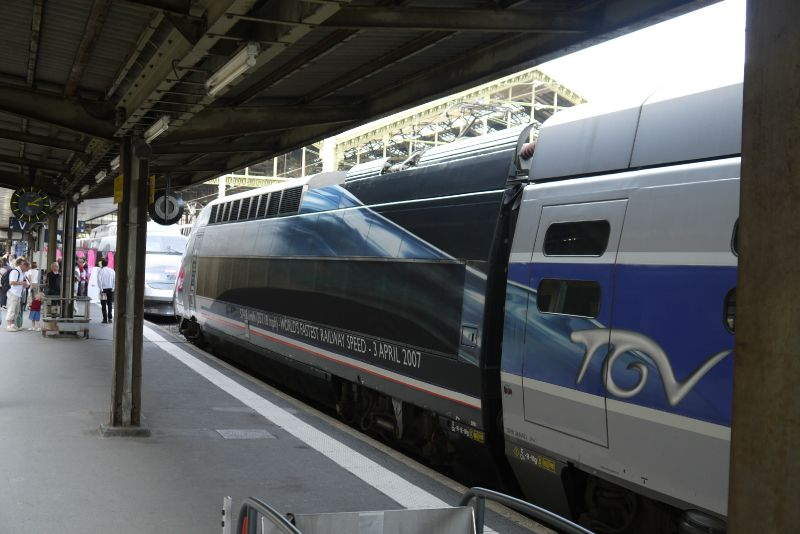 TGV : rame du record du Monde