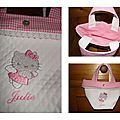 Sac Hello Kitty vichy rose