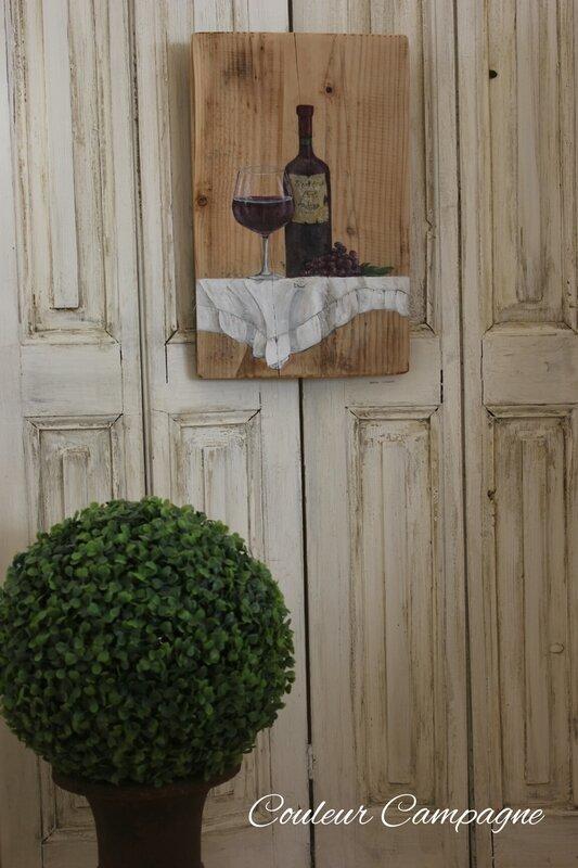 tableau peinture d co lampe esprit campagne chic shabby r f 2112401 couleur campagne. Black Bedroom Furniture Sets. Home Design Ideas