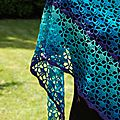 South bay shawlette blue velvet