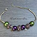 Bracelets, broches, porte/clés