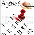 Calendrier / rappel des événements, agenda des rencontres 2016 -projets 2017