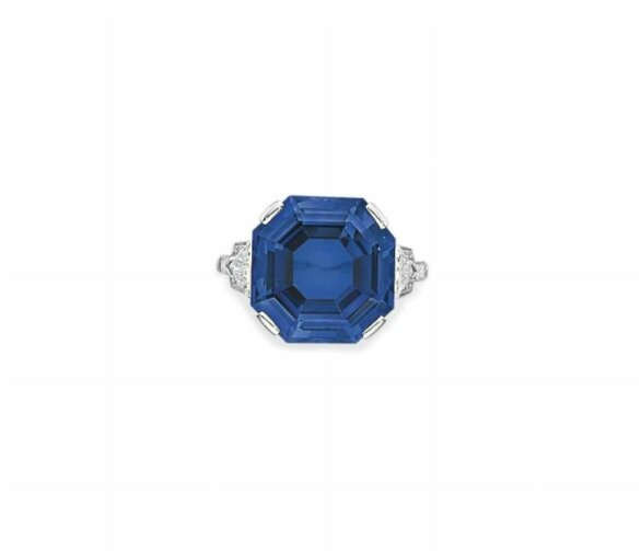 A fine sapphire and diamond ring, by BVLGARI