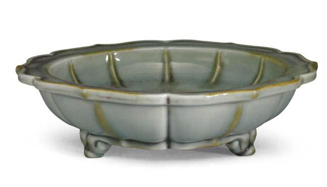 A Jun-type bulb bowl and stand, Yongzheng period