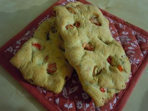 fougasse poivrons thym (4)
