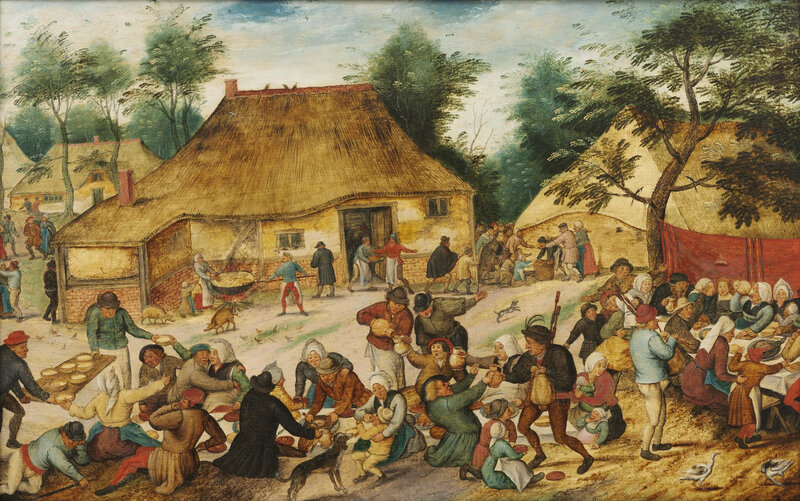 Maastricht Bonnafantenmuseum Pieter Brueghel le Jeune Fête villageoise devant une ferme 1000626-PC (1)