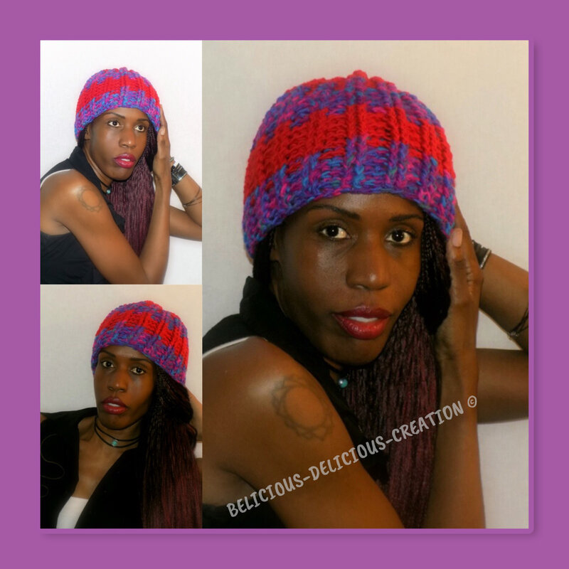 purple red woolly hat 2018 n