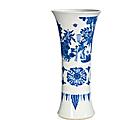 Vase en porcelaine bleu blanc, gu, chine, dynastie qing, époque shunzhi (1644-1661)