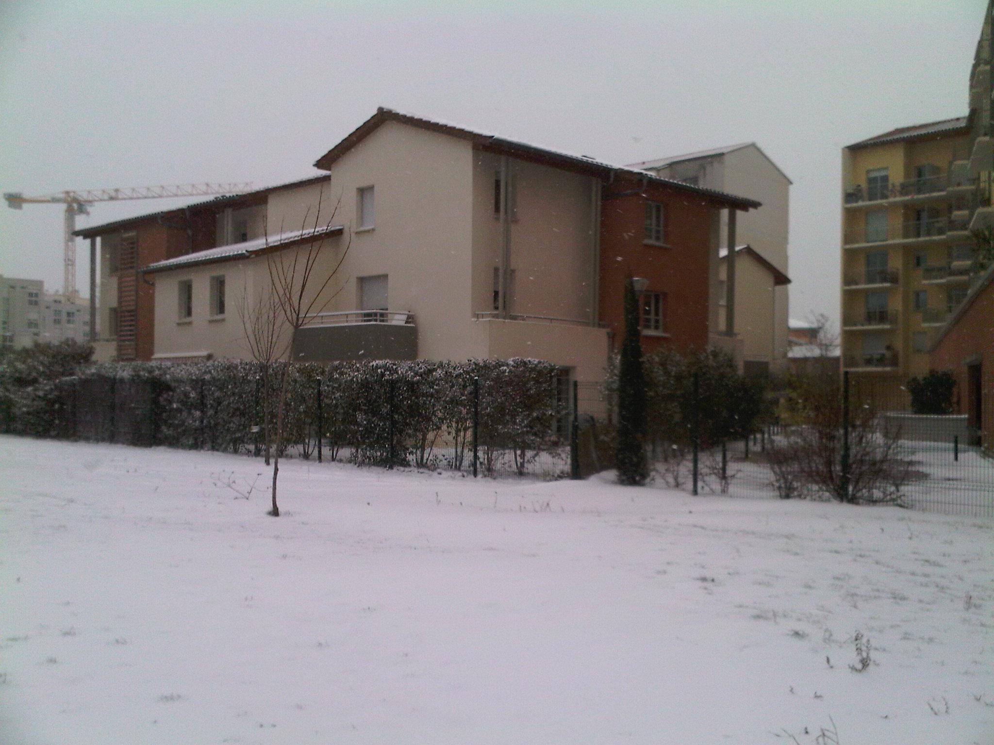 Résidence Rive Gauche, Toulouse sous la neige 9 janvier 2010