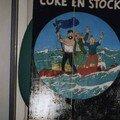 COKE EN STOCK à la gouache sur bois