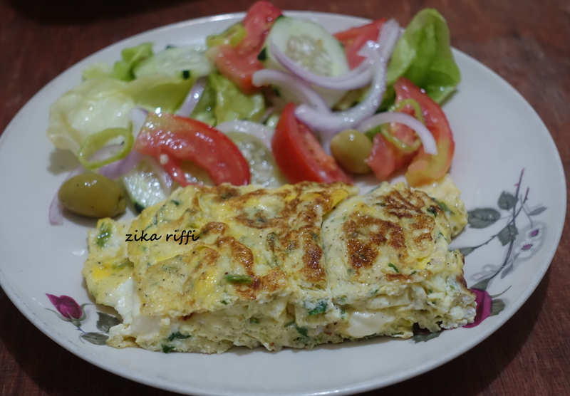 omelette fines herbes et fromage 3