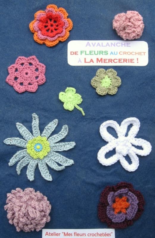 Atelier Fleurs crochetées