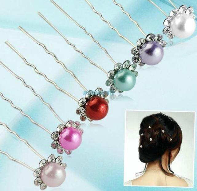 barette perles et strass