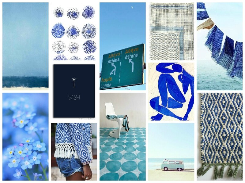 collage bleu