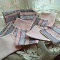 10 lingettes double face écologiques rayée rose/gris