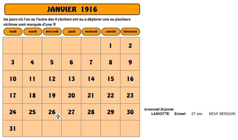 calendrier pour le site