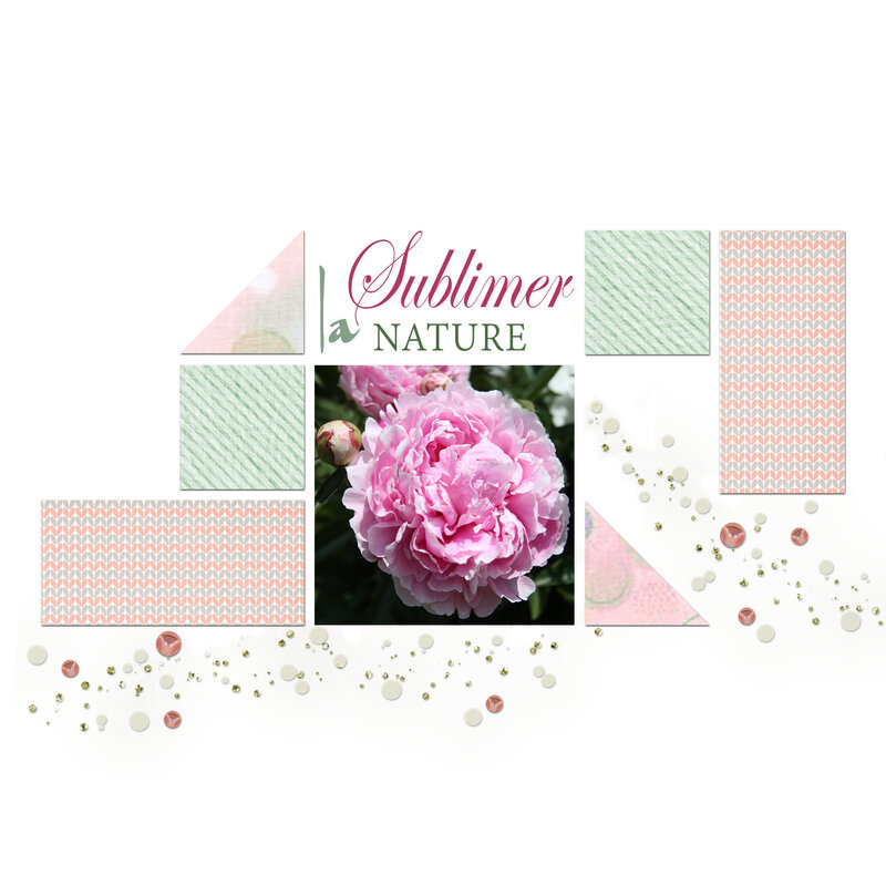 Pivoine - Sublimer la nature-scrap story 21aa