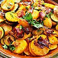 Salade d'été pommes de terre, courgettes et speck