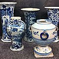 Delft. quatre vases, xviiième siècle
