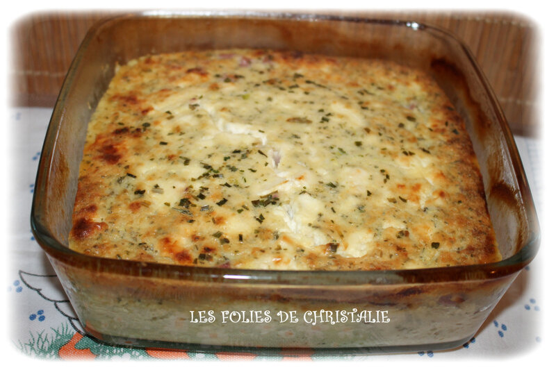 Clafoutis courgettes jambon 6
