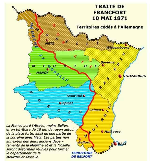 Carte Frontiere Alsace Allemagne.Alsace Lorraine A La Veille De Le Grande Guerre Grande