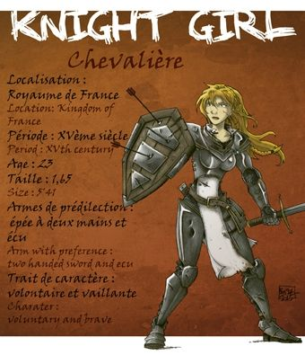 chevaliere knight girl cadojeux bostal (8)