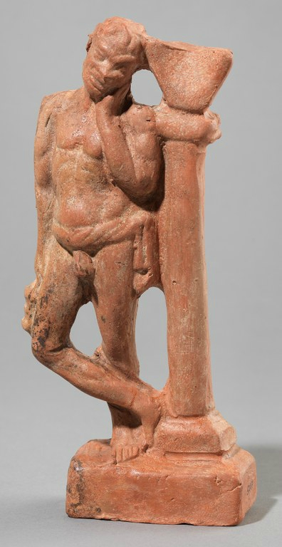 Statuette of Grieving Slave with Sundial