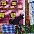 Gibbs représenté sur mon patchwork