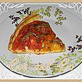 Tarte à la tomate et au proivron