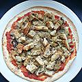 Torti'pizza poulet, oignons, champignons