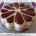 Bavarois chocolat blanc et fraise