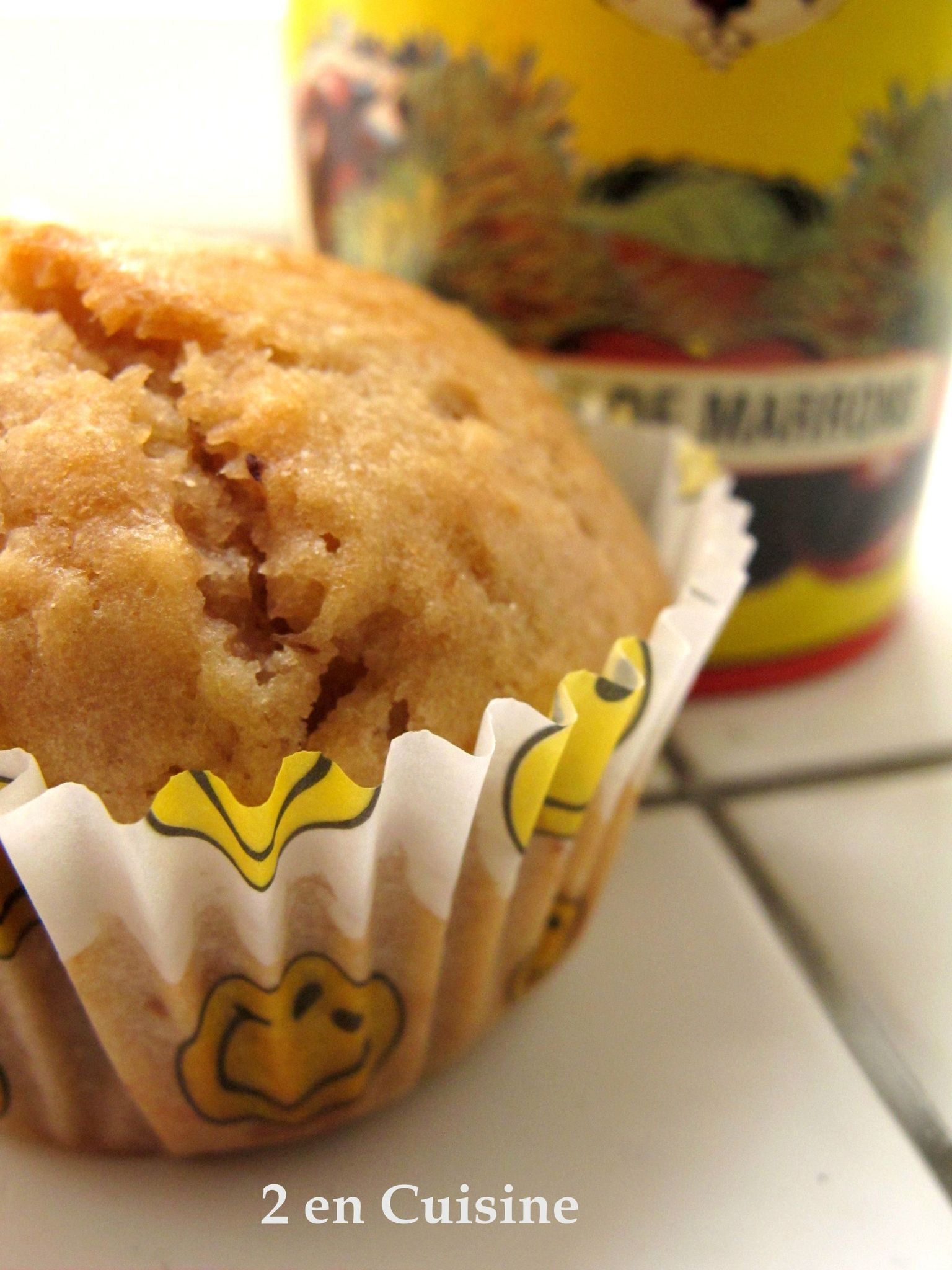 Muffins à la crème de marrons 1