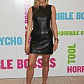 Jennifer Aniston leather minidress 216C