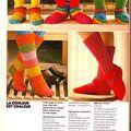 Les chaussons au crochet