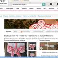 Un 2ème point de vente en ligne: ouverture de la boutique emilie rey sur a little market