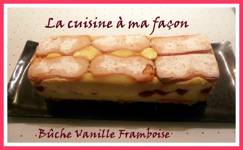 bûche vanille framboise 3