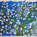 Branches d'amandier en fleurs d'après van gogh