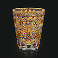 A gem set rock crystal beaker, india, second half 19th century