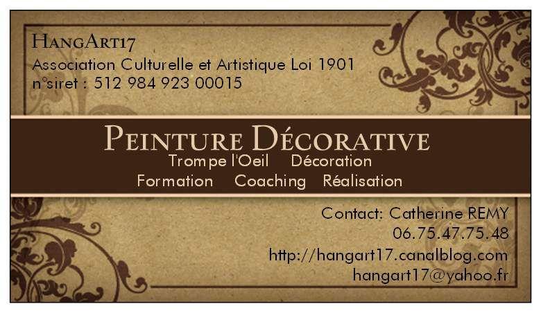 HangArt17 Peint Dco Carte Visite