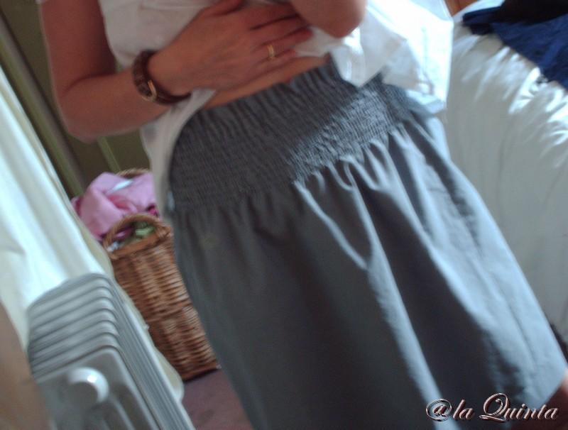 jupe taille smockée - détail des smocks