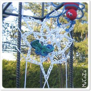 Yarnbombing papillon au crochet