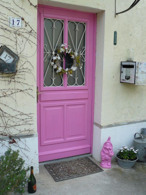 Une entrée rose