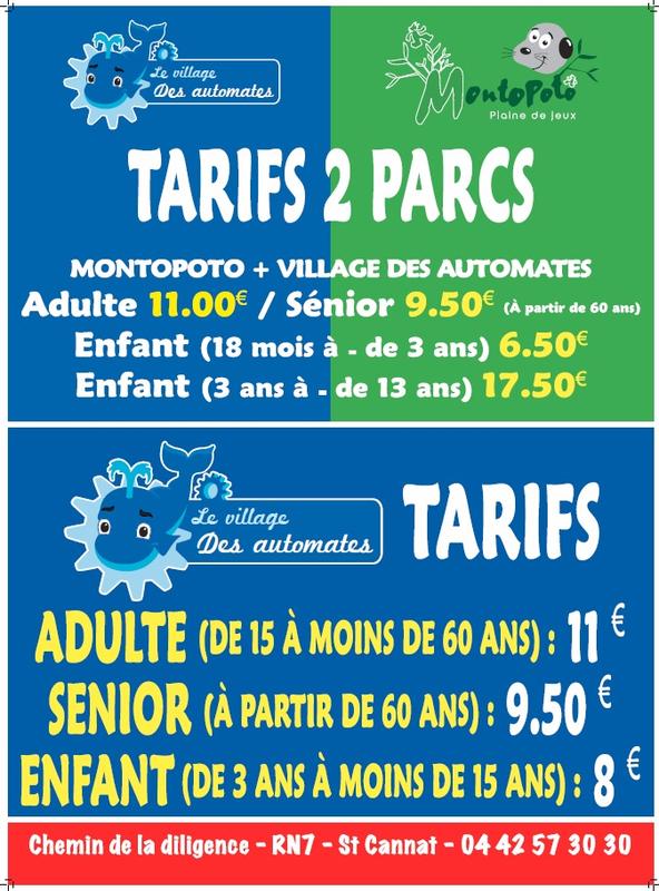tarifs village des automates