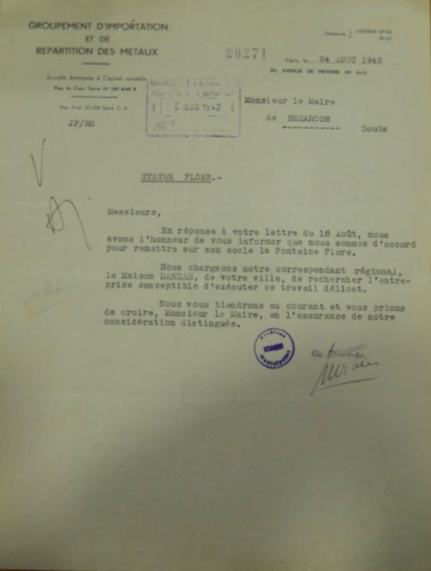 flore statue danzas à remettre août 1942 (2)